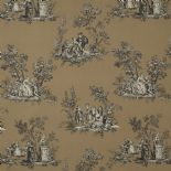 Fontainebleau Fabric Scene Reina Lin FONT81739117 or FONT 8173 91 17 By Casadeco